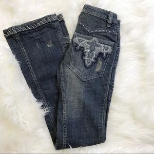 NWT Antik Denim Embroidered Low Rise Bootcut Jeans